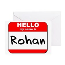 Hello my name is Rohan Greeting Card