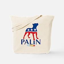 Sarah Palin Pit Bull Lipstick Tote Bag
