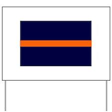 Auburn Thin Orange Line Yard Sign