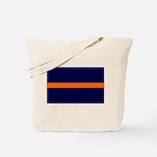 Auburn Thin Orange Line Tote Bag