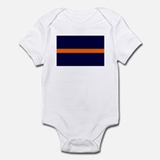 Auburn Thin Orange Line Infant Bodysuit