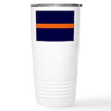 Auburn Thin Orange Line Travel Mug
