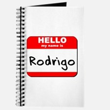 Hello my name is Rodrigo Journal