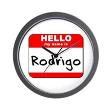 Hello my name is Rodrigo Wall Clock
