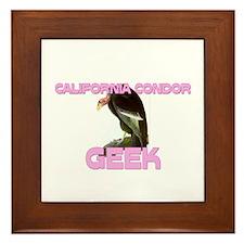 California Condor Geek Framed Tile