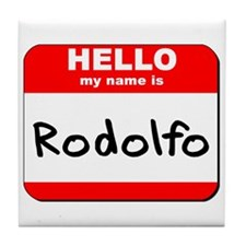 Hello my name is Rodolfo Tile Coaster