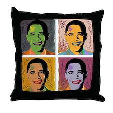 Obama Mao Throw Pillow