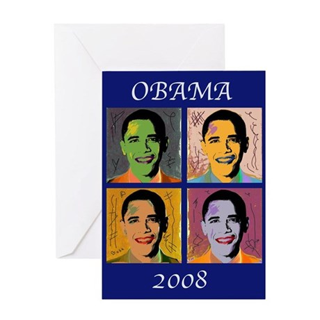 Obama Mao Greeting Card