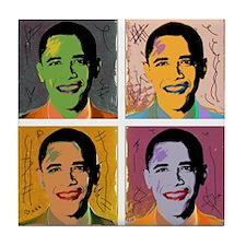 Obama Mao Tile Coaster