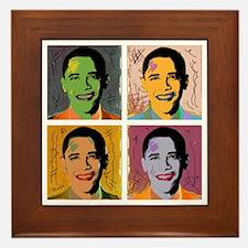 Obama Mao Framed Tile