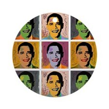 Obama Mao Ornament (Round)