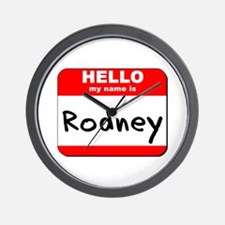 Hello my name is Rodney Wall Clock