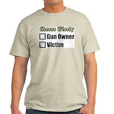"""Gun Owner Or Victim?"" Color T-Shirt"