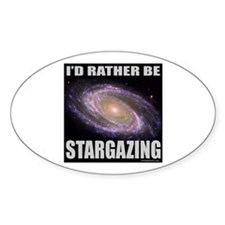 STARGAZING Oval Decal