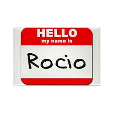 Hello my name is Rocio Rectangle Magnet