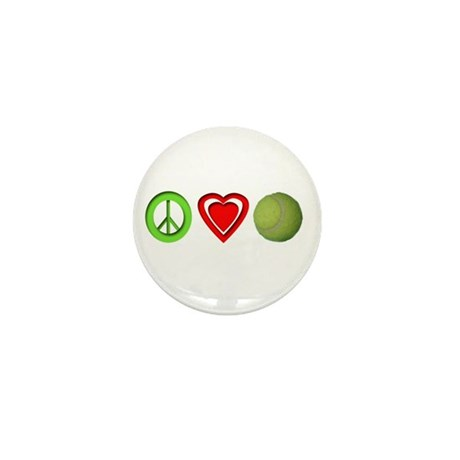 Peace, Love, Tennis Mini Button