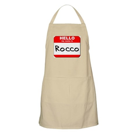 Hello my name is Rocco BBQ Apron