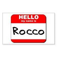Hello my name is Rocco Rectangle Decal