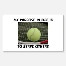 Serve Tennis Rectangle Decal
