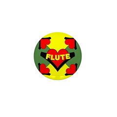 Flute Over Heart Mini Button (100 pack)