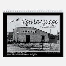 SIGN LANGUAGE calendar black and white photos
