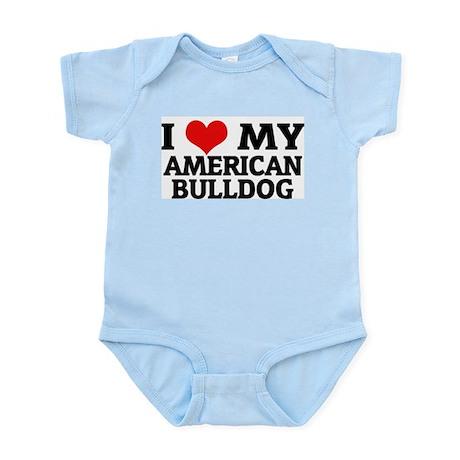 I Love My American Bulldog Infant Creeper