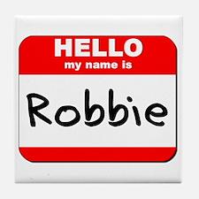Hello my name is Robbie Tile Coaster