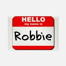 Hello my name is Robbie Rectangle Magnet