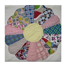 Vintage Dresden Plate Tile Coaster