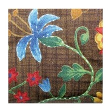 Trudy's Floral Tile Coaster