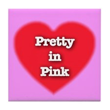 Pretty in Pink Tile Coaster