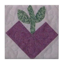 Purple Heartfruit Tile Coaster