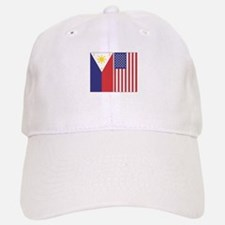 Philippine Flag & US Flag Baseball Baseball Cap