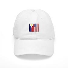 Philippine Flag & US Flag Baseball Cap