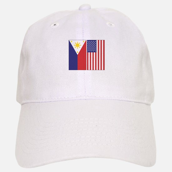 Philippine Flag & US Flag Cap
