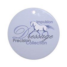 Dressage Horse Ornament (Round)