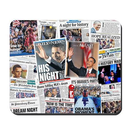 Obama Nominated: Newspaper Mousepad