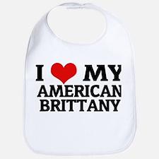 I Love My American Brittany Bib
