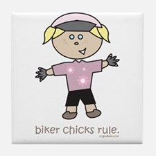 BikerChick: Tile Coaster
