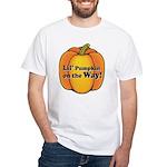 Little Pumpkin on the Way White T-Shirt