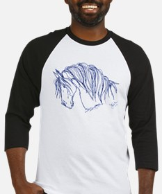 Horse Head Art Baseball Jersey
