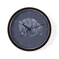 Horse Head Art Wall Clock