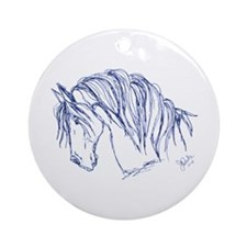 Horse Head Art Ornament (Round)