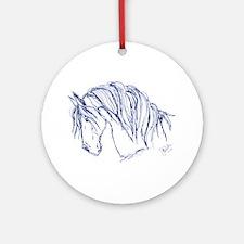 Horse Head Art Ornament (Round)