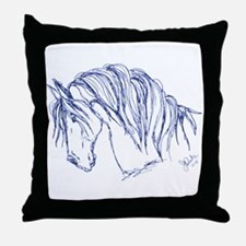 Horse Head Art Throw Pillow