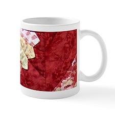 red & yellow fan Small Mugs