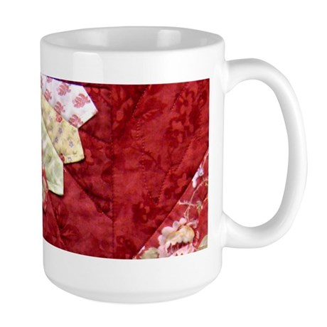 red & yellow fan Large Mug