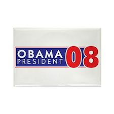 OBAMA 08 FOR PRESIDENT Rectangle Magnet