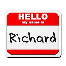 Hello my name is Richard Mousepad