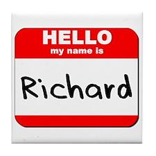 Hello my name is Richard Tile Coaster